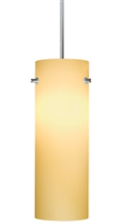 Juno Lighting PKH324MAIZE Decorative Pendant Kit Cylinder Glass Shade, Maize Color
