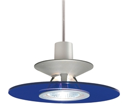 Juno Lighting PKH328COBALT Decorative Pendant Kit Luminous Disc Shade, Cobalt Color