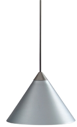 Juno Lighting PKL G2 P311 SLVR LED Decorative Pendant Kit Short Cone Metal Shade, Silver Color