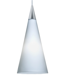 Juno Lighting PKL G2 P312 OPL LED Decorative Pendant Kit Tall Cone Glass Shade, Opal Color
