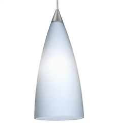 Juno Lighting PKL G2 P314 OPL LED Decorative Pendant Kit Flute Glass Shade, Opal Color