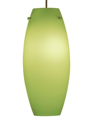 Juno Lighting PKL G2 P322 PIST LED Decorative Pendant Kit Ellipse Glass Shade, Pistachio Color