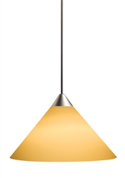Juno Lighting PKL310SUNSETGOLD LED Decorative Pendant Kit Short Cone Glass Shade, Sunset Gold Color