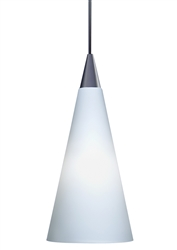 Juno Lighting PKL312OPAL (PKL P312 OPL) LED Decorative Pendant Kit Tall Cone Glass Shade, Opal Color