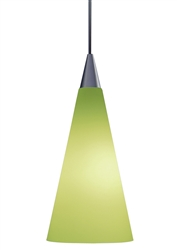 Juno Lighting PKL312PISTACHIO (PKL P312 PIST) LED Decorative Pendant Kit Tall Cone Glass Shade, Pistachio Color