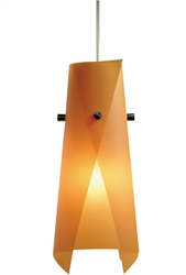 Juno Lighting PKL316ORANGEPEEL (PKL P316 OPEEL) LED Decorative Pendant Kit Luminous Wrap Polycarbonate Shade, Orange Peel Color