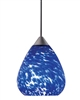 Juno Lighting PKL318ICE LED Decorative Pendant Kit Teardrop Glass Shade, Ice Color