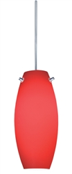 Juno Lighting PKL322ROUGE LED Decorative Pendant Kit Ellipse Glass Shade, Rouge Color