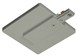 Juno Track Lighting R21SL (R21 SL) Trac Lites End Feed Connector and Outlet Box Cover, Silver Color