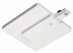 Juno Track Lighting R21WH (R21 WH) Trac Lites End Feed Connector and Outlet Box Cover, White Color
