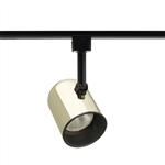 Juno Track Lighting R501B-PB (R501 BLB PB) Trac Lites Round Back Cylinder Line Voltage 50W PAR20/R20 Black Baffle Polished Brass Color