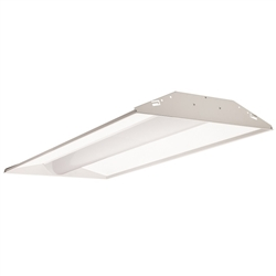 Juno Lighting S2X4BL-3930U-WH4-BR Indy 2x4 LED Low-Profile Recessed Luminaire With Basket Diffuser, 3900 Lumens, 3000K, 120-277V, White, Gen4, Emergency Battery pack With Remote Test Switch