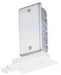 Juno Track Lighting T121WH (T121 WH) Recessed Trac Trac Master End Feed Connector, White Color