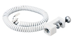 Juno Track Lighting T135WH (T135 WH) Coil Cord Clamp-On - Low Voltage, White Color