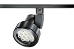 Juno Track Lighting T253LED-3D-NFL-BL Cylindra 22W Dimmable LED 3000K, Narrow Flood Beam Spread, Black Finish