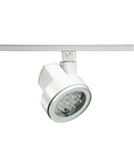 Juno Track Lighting T253LED-3D-NFL-WH Cylindra 22W Dimmable LED 3000K, Narrow Flood Beam Spread, White Finish