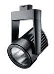 Juno Track Lighting T255LED-4K-FL-BL Cylindra 45W LED 4100K Color Temperature, Flood Beam Spread, Black Finish