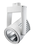 Juno Track Lighting T255LED-4K-NFL-WH Cylindra 45W LED 4100K Color Temperature, Narrow Flood Beam Spread, Black Finish