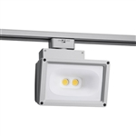 Juno Track Lighting T259L-35K-HC-SL Wall Wash Flood 57W LED 4691 Lumens, 3500K Color Temperature, 90 CRI, Silver Finish