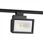Juno Track Lighting T259L-3K-HC-BL Wall Wash Flood 57W LED 4691 Lumens, 3000K Color Temperature, 90 CRI, Black Finish