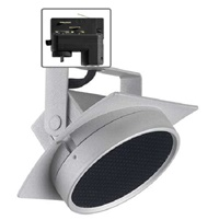 Juno T271L G2 30K SPW PDIM NFL THCL1SL Track Lighting Arc 9W Dimmable LED Track Fixture, 2700K, Spectral White, Narrow Flood, Installed Louver, Silver Finish