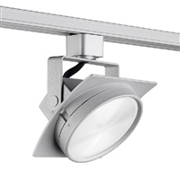 Juno T271L G2 30K SPW PDIM FL SL Track Lighting Arc 9W Dimmable LED Track Fixture, 2700K, Spectral White, Flood, Silver Finish