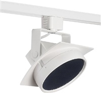 Juno T271L G2 30K SPW PDIM FL WH THCL1WH Track Lighting Arc 9W Dimmable LED Track Fixture, 2700K, Spectral White, Flood, Installed Louver, White Finish