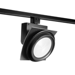Juno Track Lighting T275L35KFBL Trac Master Arc XL 26W LED, 3500K Color Temperature, 80 CRI, Flood, No Louver, Black Finish