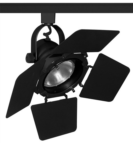 studio track lighting. Juno Track Lighting T292BL (T292 BL) Studio II With Barn Door - Line Voltage 75W PAR30, Black Color R