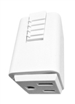 Juno Track Lighting T33WH (T33 WH) Trac Master Outlet Adapter White Color