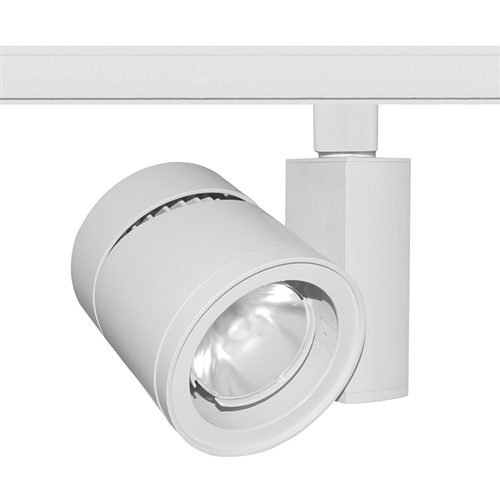 Juno Track Lighting T385l 3hcfwh 39w Vertical Cylinder Led 3000k Color Temperature 90 Cri Flood Beam Spread White Finish