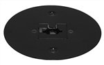 Juno Track Lighting T40F-BL (T40F BL) Flush Monopoint Adapter, Mounts Directly to Outlet Box, Black Color