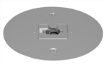 Juno Track Lighting T40F-SL (T40F SL) Flush Monopoint Adapter, Mounts Directly to Outlet Box, Silver Color