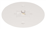 Juno Track Lighting T40F-WH (T40F WH) Flush Monopoint Adapter, Mounts Directly to Outlet Box, White Color