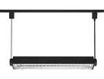 Juno Track Lighting T5C22BL (T5C 2FT BL) T5HO Suspended Cable Mount 2-Lamp Fluorescent Wall Washer 24W, Black Color