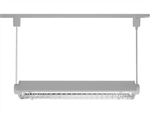 Juno Track Lighting T5C22SL (T5C 2FT SL) T5HO Suspended Cable Mount 2-Lamp Fluorescent Wall Washer 24W, Silver Color