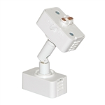 Juno Track Lighting T95WA-WH (T95 WH WA) Trac Master Slope Ceiling Adapter for Fixture with Wide Trac Adapter, White Color