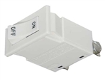 Juno Track Lighting TCL8WH (TCLCB 8A WHT) Current Limiting Circuit Breaker - 8A (960W), White Color