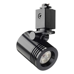 Juno Track Lighting TL114G2-2F-BL Trac 12 LED Mini Cylinder Spotlight, 6W 12V, 2700K Color Temp, Flood Beam Lighting Fixture, Black Color