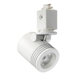 Juno Track Lighting TL114G2-2F-WH Trac 12 LED Mini Cylinder Spotlight, 6W 12V, 2700K Color Temp, Flood Beam Lighting Fixture, White Color