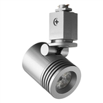 Juno Track Lighting TL114G2-35F-SL Trac 12 LED Mini Cylinder Spotlight, 6W 12V, 3500K Color Temp, Flood Beam Lighting Fixture, Silver Color