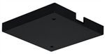 Juno Track Lighting TL21BL (TL21 BL) Trac 12 Outlet Box/T-Bar Ceiling Canopy Feed, Black Color