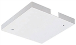 Juno Track Lighting TL21WH (TL21 WH) Trac 12 Outlet Box/T-Bar Ceiling Canopy Feed, White Color