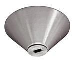 Juno Track Lighting TL541U-SL (TL541 LED SL) Conical Monopoint with Integral Transformer Compatible with LED and Halogen Fixtures, Silver Color