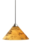 Juno Track Lighting TLP310AMBERDRIFT (TLPS P310 ADRFT) Decorative Pendant Short Cone Glass Shade Amber Drift Glass Color
