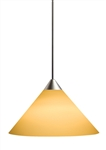 Juno Track Lighting TLP310SUNSETGOLD Decorative Pendant Short Cone Glass Shade Sunset Gold Glass Color
