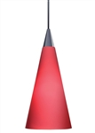 Juno Track Lighting TLP312ROUGE (TLPS P312 ROUG) Decorative Pendant Tall Cone Glass Shade Rouge Glass Color