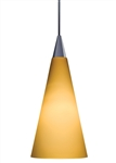 Juno Track Lighting TLP312SUNSETGOLD Decorative Pendant Tall Cone Glass Shade Sunset Gold Glass Color