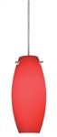 Juno Track Lighting TLP322ROUGE Decorative Pendant Ellipse Glass Shade Rouge Glass Color
