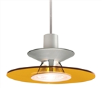 Juno Track Lighting TLP328AMBER Decorative Pendant Luminous Disc Shade Amber Disc Color